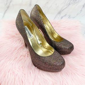 Steve Madden CarrySSag Glitter Platform Heels 10